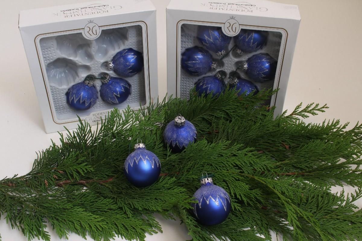 Weihnachtskugeln weihnachtsdeko christbaumkugeln blau for Christbaumkugeln blau
