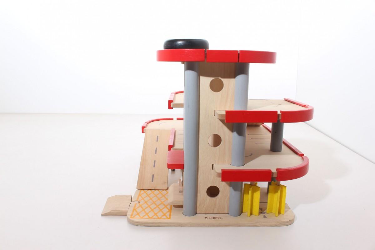 plan city parkhaus hubschrauber landeplatz aufzug holz spielzeug ebay. Black Bedroom Furniture Sets. Home Design Ideas